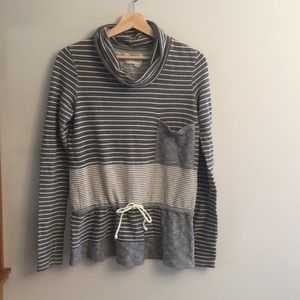 Saturday Sunday striped cowlneck Anthropologie